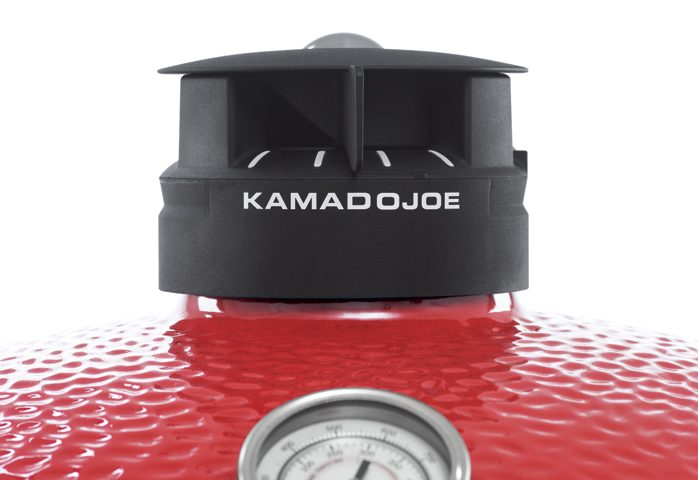 KAMADO JOE BIG JOE™, an instant hit. This heat-resistant ceramic bbq keeps meat moist and seals in smoke and flavour. The most versatile Kamado can accommodate three full rack of ribs! Buy online or visit The BBQ Shop at Debden Barns Saffron Walden, Essex.